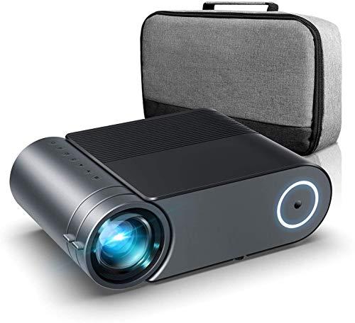 [2020 Upgrade Projector] 5000Lux LED-projector, Full HD 1080P ondersteunde miniprojector, [Native 720P] Compatibel met smartphones, PS4, TV Box, HDMI, USB, AV voor Home Entertainment