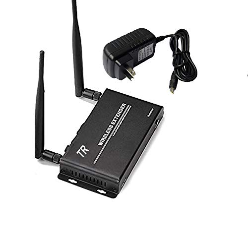DIGITAL Wireless HDMI Extender Transmitter and Receiver Balun Kit & Adapter 656ft (200m) Dual Antenna, Long Range, Auto Detection 5GHz Freq IR Extension (Receiver(1 RX ))