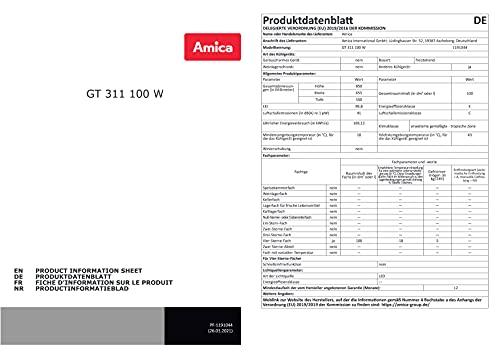 Amica Gefriertruhe 100 L freistehend FrostControl LED Beleuchtung GT 311 100 W