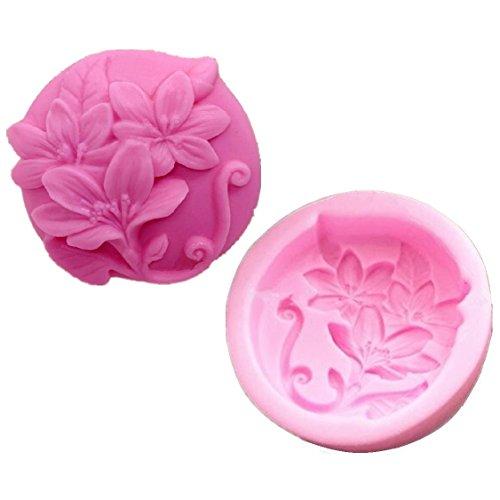 Allforhome Fleurs Craft Art DIY Moules en silicone Savon fait main fabrication de moules