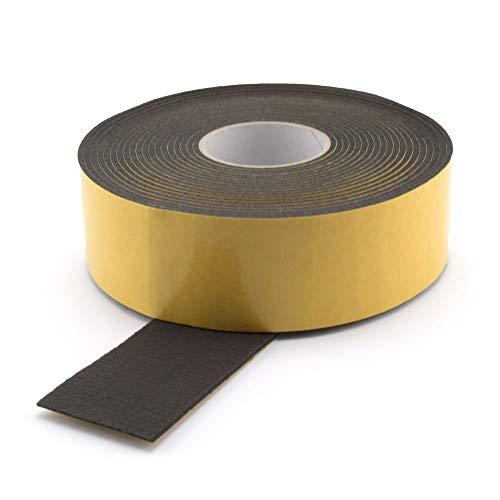 GleitGut Filzband selbstklebend schwarz Länge: 1 m Filzklebeband Meterware Breite: 50 mm Stärke: 3 mm Filzstreifen