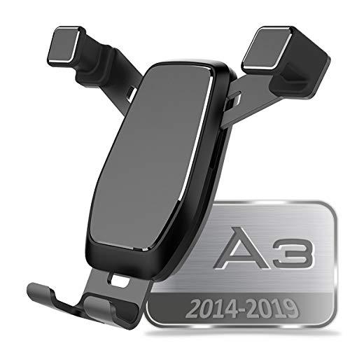 AYADA Support Téléphone pour Audi A3 8V S3 RS3, Porte Telephone Support Smartphone Phone Holder Nouvelle Version Ajustable Gravity Auto Lock Stable sans Gigue Accessoire A3 2016 2017 Sportback