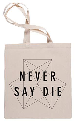 Wigoro Dubstep Never Say Die Einkaufstasche Tote Beige Shopping Bag