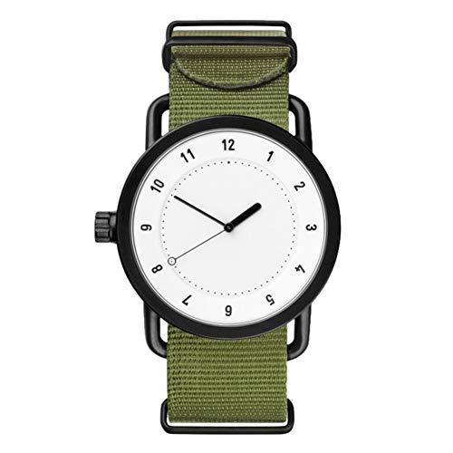 Eotifys Reloj Relojes Hombres Pareja Correa de Moda Cuarzo Reloj de Pulsera Redondo Reloj Reloj de Moda Casual Simple