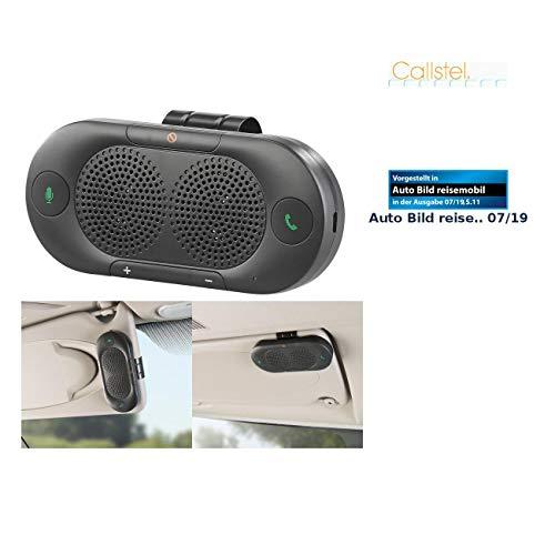 Callstel Autofreisprechanlage: Stereo-Kfz-Freisprecher mit Bluetooth 5, Siri- und Google-kompatibel (Freisprecheinrichtungen)