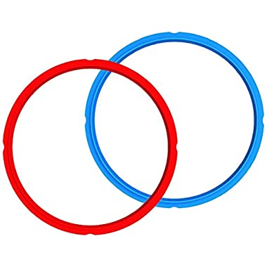 Genuine Instant Pot Sealing Rings 2-Pack - Mini 3 Quart Red/Blue
