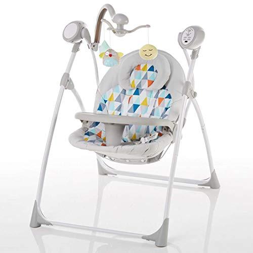 ZWQ kids Réglable bébé Chaise à Bascule, bébé Chaise électrique à Bascule, Chaise de Confort Nouveau-né, Chaise à Bascule,A