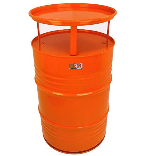 Fassmöbel Stehtisch Bistrotisch Tisch Design Partytisch Orange Ø 57cm Höhe 108cm / Glatter Glanz - Pflegeleichte Oberfläche