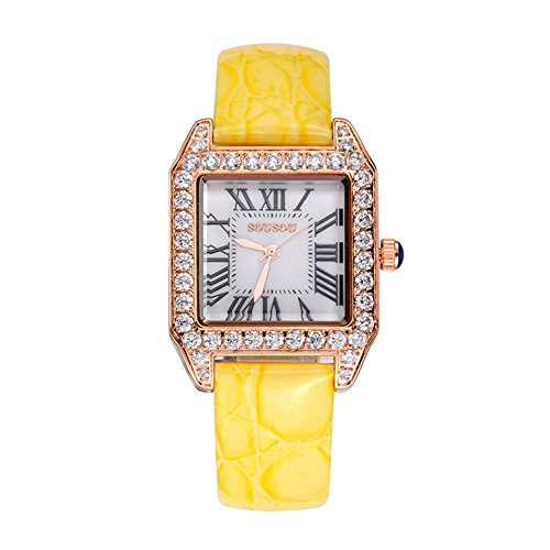 Reloj de señoras de moda , lemon yellow