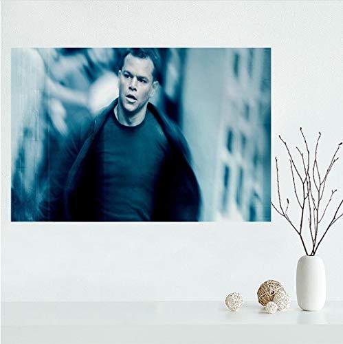 panggedeshoop Moderne Mode Jason Bourne Poster Malerei Druck Wandkunst Seide Stoff Poster Druck Stoff Poster Home Decoration 40X50Cm