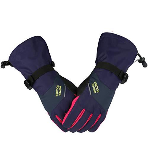 Hony Femme Gants de Ski Écran Tactile Imperméable Gants d'hiver Coupe-Vent Antidérapant pour Le Sport en Plein Air Doigt Complet