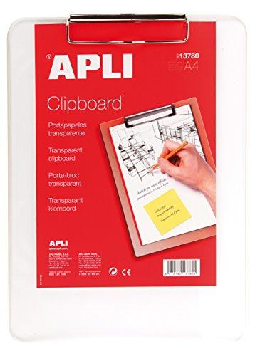 APLI 13780 - Clipboard plástico transparente A4