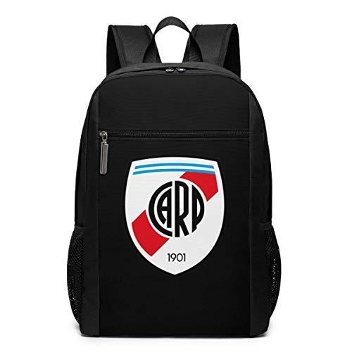 School Bag Travel Daypack, River Plate FC Backpacks Travel School Large Bags Shoulder Laptop Bag for Men Women Kids