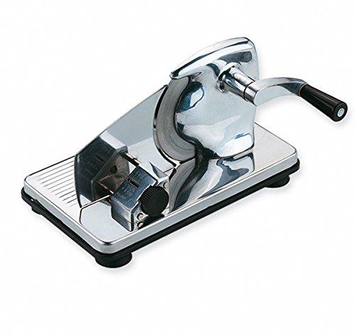 Ilsa Aufschnittmaschine, Stahl, mit Saugnäpfen, Silber, Centimeters