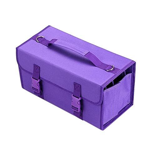 HUANGMENG Suministros 2 PCS Marcar titulares Bolsa Touch Pen Bolsa de Almacenamiento Boceto Bolso de Pintura, Tamaño: 168 Caja de lápices de Color (Azul) (Color : Purple)