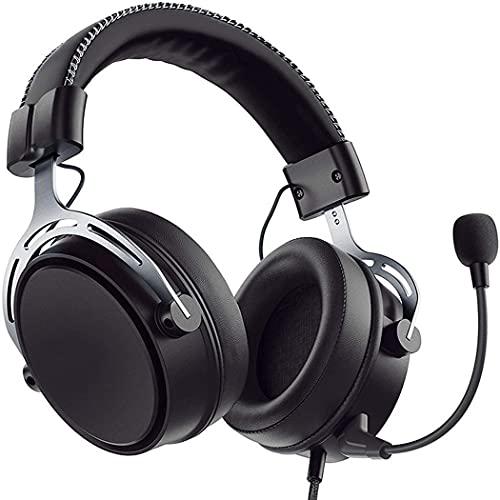 KDJFHDJ Air 2.4G Auriculares inalámbricos para juegos PS4/PS5/PC con controlador de cámara dual, 17 horas de uso inalámbrico (cable opcional), micrófono fijo con cancelación de ruido, bajo, negro