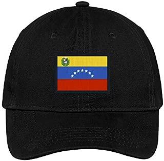 Venezuela Flag Bandera Hat Embroidered Baseball Dad Cap Gorra Republica de Venezuela Escudo Resistencia Vinotinto Libertad Black