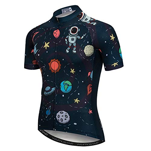 JPOJPO Cycling Jersey Mens Bike Jersey MTB Road Bicycle Clothing Summer Short Sleeve Pro Breathable Cycling Shirt Tops Jackets, Cd5216, M for Chest34.6-37
