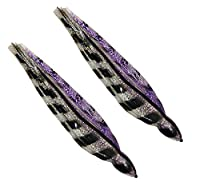 Marlin Lure Skirts 12 Inch (Includes 2 Skirts) Squid Trolling Lure Skirts (Purple Black)