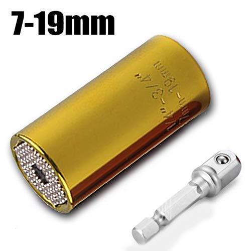 XNBCD schroefsleutel universele Torque Head set huls 7-19 mm boormachine ratel socket sleutelgreep handgereedschap