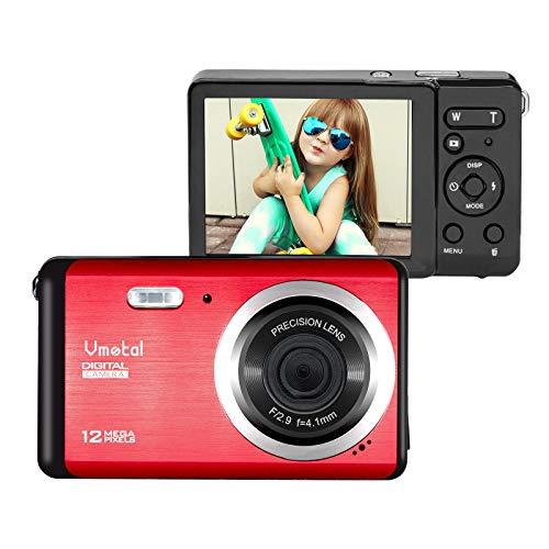 Mini Digital Camera, Vmotal 2.8 Inch TFT LCD 12MP Digital Camera 8X Digital Zoom 1080P Video Camera for Kids