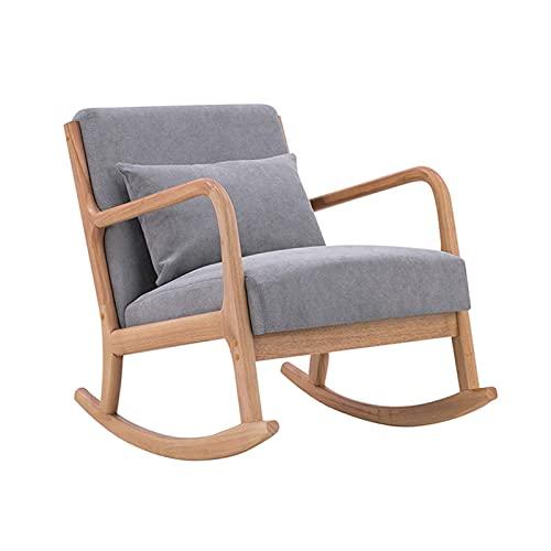 KUYH Silla mecedora de la sala de estar, Sillón de madera, Home Lunch Break Leisure Balcón, Sala Balcón Terraza Oficina