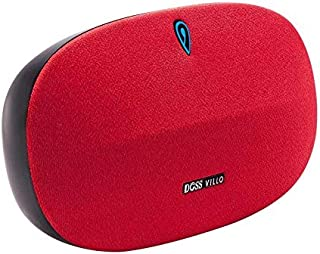 DOSS Bluetooth 4.2 Stereo Speaker with Aluminum Bracket, Enhanced Bass, 10 hours Playtime, Aux in and TF Port-Red