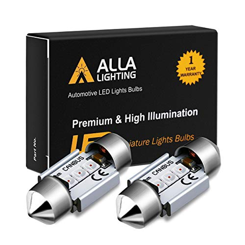 Alla Lighting DE3022 DE3175 LED Bulb Xtremely Super Bright 31mm CAN-BUS Festoon DE3021 3175 6428 3030 SMD Cars Trucks LED Interior Dome Map Trunk Step Courtesy Lights, Pure Red