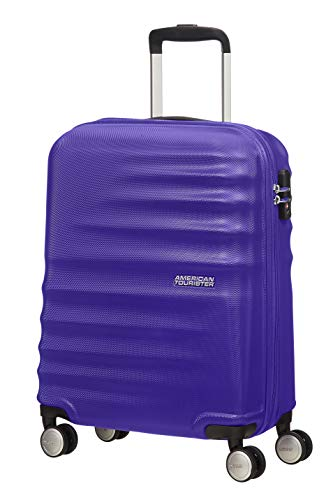 American Tourister Wavebreaker - Spinner S Handgepäck, 55 cm, 36 L, Blau (Nautical Blue)