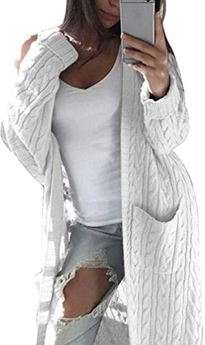 J.Apperal. Suéter de punto de manga larga con bolsillos grandes para mujer