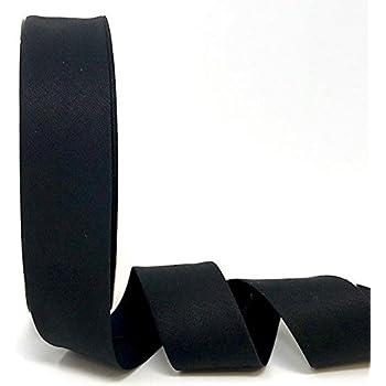 Byetsa Cinta elástica para bies de 30 mm en rollo de 25 m (3% elastano/97% algodón), color negro: Amazon.es: Hogar