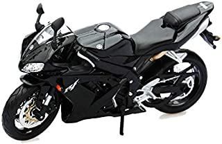 METRO TOY'S & GIFT Diecast 1:12 Scale YZF R1 Black Motorcycle Model Metal Diecast Models Motor Bike Miniature Race Toy for Gift Collection