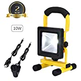 10W LED Rechargeable Work Lights Portable Floodlight Waterproof Outdoor Spotlight for Home Emergency Car GarageCamping