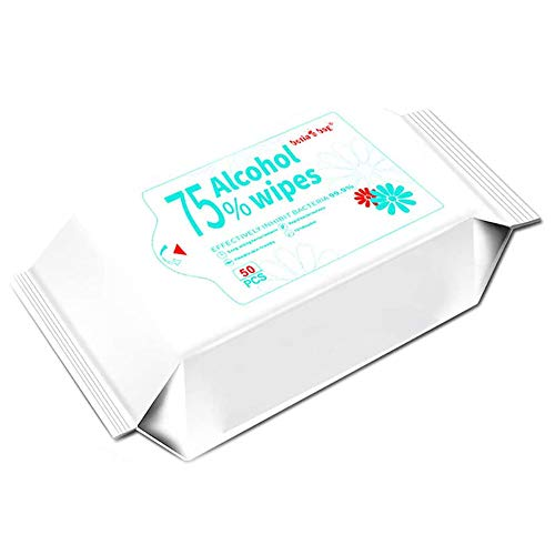 50 Counts/Pack Cleaning Wipes for Hand, Portable Wet Wipes for Deep Cleaning Hands, Tables, Chairs, Toys, Doorknobs and Toilet mats seat,Best for Public Places