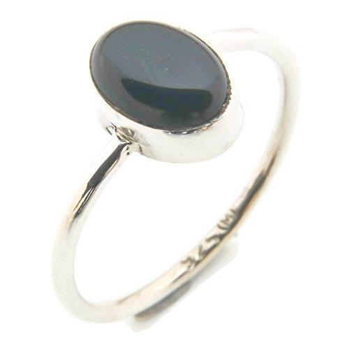 Ring Silber 925 Sterlingsilber Onyx schwarz Stein (Nr: MRI 100), Ringgröße:48