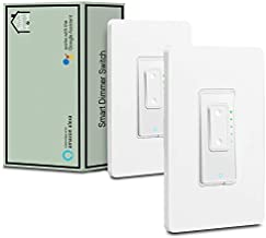 3 Way Smart Switch Dimmer by Martin Jerry | SmartLife App, Mains Dimming (TRIAC) ONLY, compatible with Alexa as WiFi Light Switch Dimmer, 3-way, Works with Google Assistant
