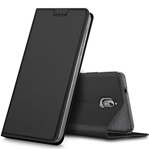 Verco Handyhülle für Nokia 3.1, Premium Handy Flip Cover für Nokia 3.1 Hülle [integr. Magnet] Book Hülle PU Leder Tasche [Nokia 3 2018], Schwarz