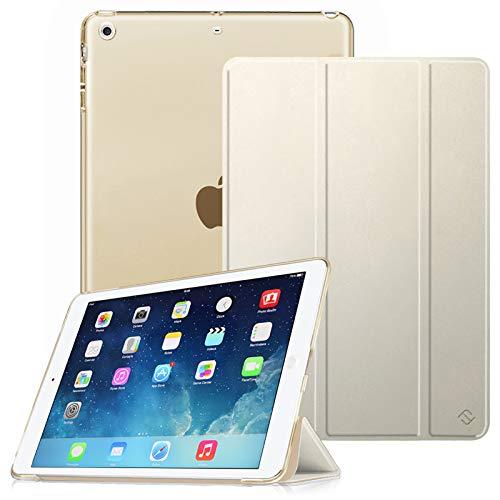 Fintie Hülle für iPad Air 2 (2014 Modell) / iPad Air (2013 Modell) - Superdünne Superleicht Schutzhülle mit Transparenter Rückseite Abdeckung mit Auto Schlaf/Wach Funktion, Champagner Gold