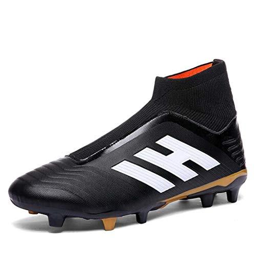 MSSugar Hombres Botas de fútbol Zapatos de fútbol Mosca Tejida Calcetines Tejidos Hierba Artificial Zapatos de Entrenamiento AG Spike