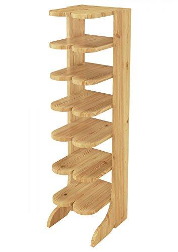 Erst-Holz® 90.80-00 Schuhregal Schuhständer Massivholz Kiefer Stiefelform