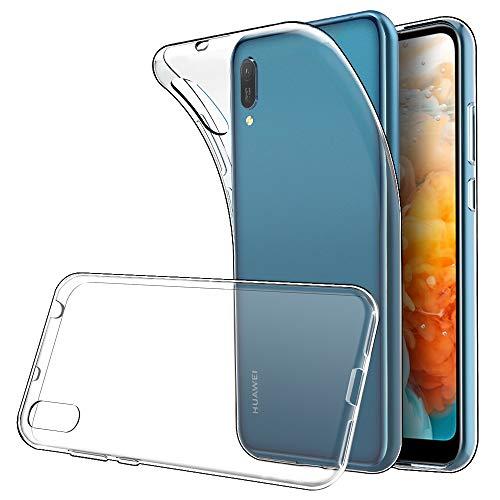 Simpeak Hülle Kompatibel für Huawei Y6 2019 [6,09 Zoll], Handyhülle Kompatibel mit Huawei Y6 2019 Soft Silikon TPU Durchsichtige Dünn SchutzHülle Hülle - Transparent