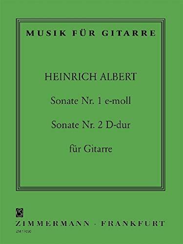 Sonate Nr. 1 e-Moll / Sonate Nr. 2 D-Dur: Gitarre. (Musik für Gitarre)