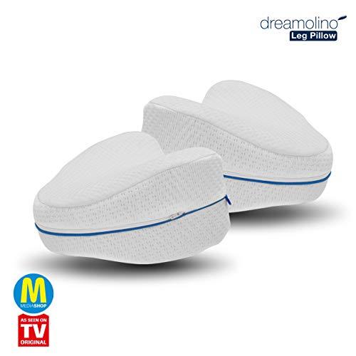 Mediashop Dreamolino Leg Pillow 2 Stück – ergonomische Seitenschläferkissen für optimale Unterstützung – Memory Foam Kissen für Seitenschläfer für optimalen Liegekomfort