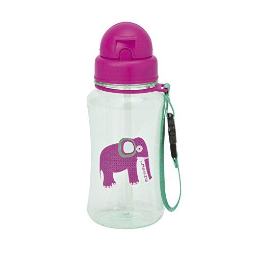 Lässig Kinder Trinkflasche mit Strohhalm, Wildlife Elephant
