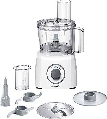 Bosch MCM3100W Kompakt-Küchenmaschine, 800 W, 2,3 L, SmartStorage, weiß/grau