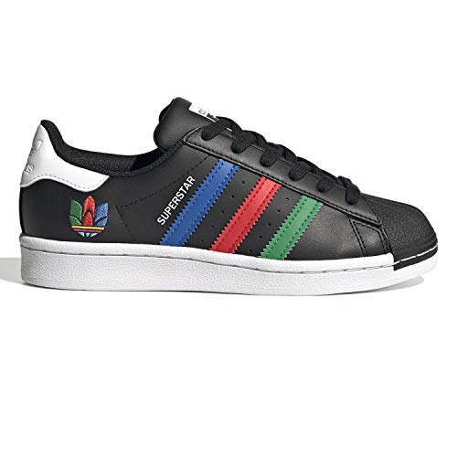 Adidas - Superstar J - FW5235 - Kleur: Zwart - Maat: 36 2/3 EU