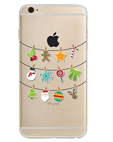 Blingy's iPhone SE (2020) Case/iPhone 8 Case/iPhone 7 Case(4.7inch),Fun Christmas Style Transparent Clear Soft TPU Case Compatible for iPhone SE (2020)/iPhone 8/iPhone 7 (Christmas Ornaments)