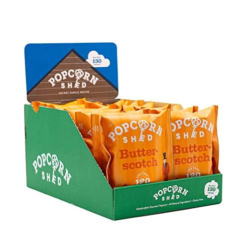 Popcorn Shed Paquete de bocadillos de palomitas de maíz gourmet vegano, 24 g, paquete de 16   palomitas de maíz saladas veganas   Sin gluten, aperitivos naturales y veganos