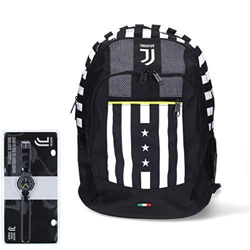 Juventus Zaino Seven Advanced - Collezione Scuola 2020 2021 - Orologio in Omaggio - 100% Originale - 100% Prodotto Ufficiale