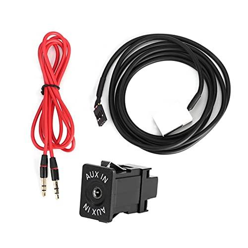 RJJX Adaptador de Cables de Audio AUX AUX-IN AUX-IN AUX-IN Audio AUDIVO para BMW E60 E66 E81 E82 E70 E90 Cable de Adaptador estéreo